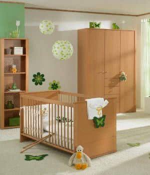 quarto de bebe verde madeira