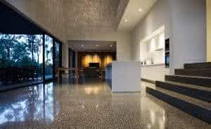 concreto polido chão