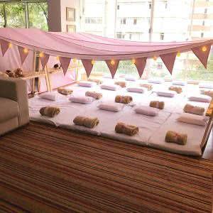 festa do pijama tenda sala