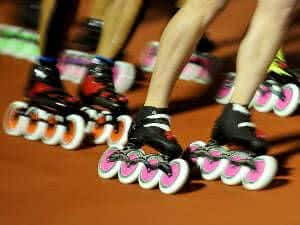corrida de patins in line