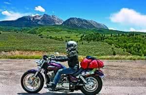 moto paisagem bagagem