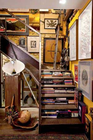 escadas degraus livros