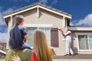 pintura casa família