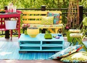 varanda colorida
