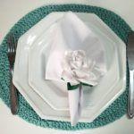 Porta Guardanapo em Forma de Flor para Dias de Festa