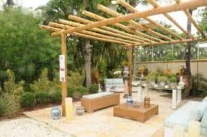 pergolado bambu