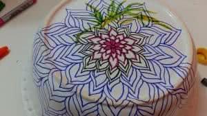 desenho pintura porcelana