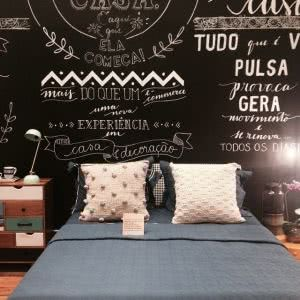 cama quarto lettering