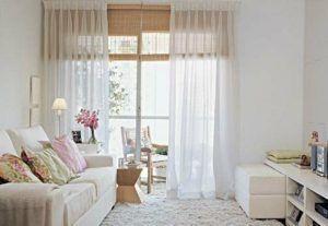 sala branca cortinas