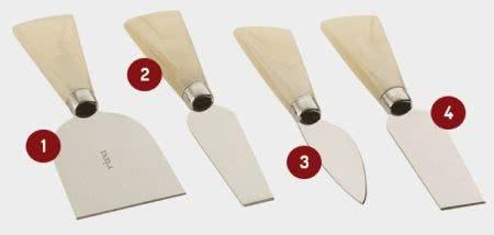 tipos de facas para queijo