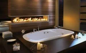 banheira lareira