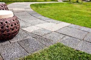 piso drenante jardim