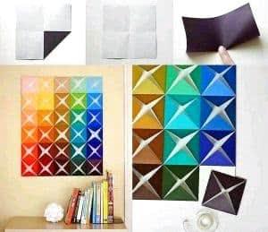quadrados de papel para parede