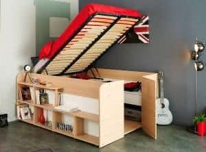 cama solteiro altura media multifucional
