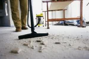 aspirador chão obra
