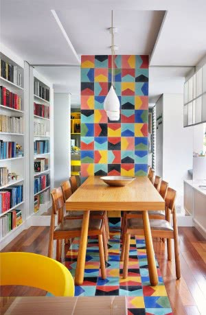 sala de jantar azulejos