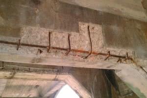estrutura corroida concreto
