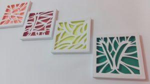 Quadros Decorativos Vazados com Material Reciclado