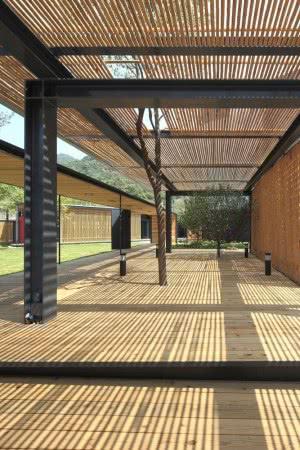 cobertura bambu