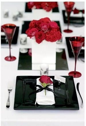 jantar romantico mesa