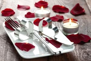 mesa jantar romantico