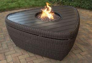 base fogueira triangular madeira