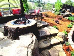 base fogueira tronco