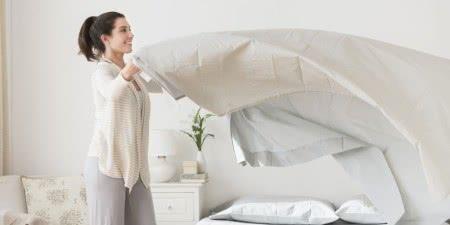 mulher lençol