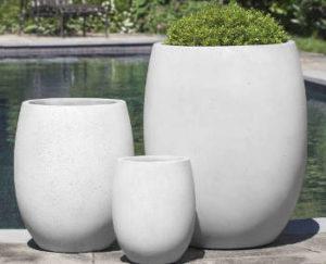vasos de concreto minimalistas