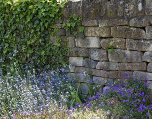 Paisagismo para muros de pedras e blocos de concreto
