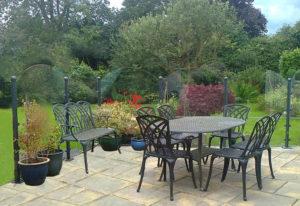 Quebra-ventos para jardins, sítios e varandas
