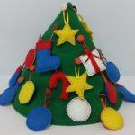 Árvore de Natal Interativa em Feltro para Crianças