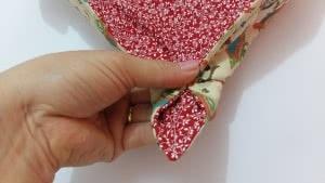 cestinha de paes de tecido