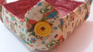 cestinha paes tecido