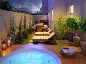 apto garden piscina