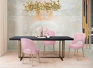 sala dourada rosa