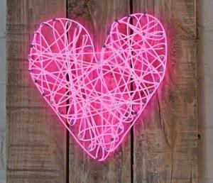 coração neon