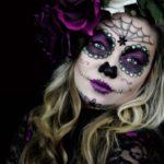 Maquiagem de Caveira Mexicana para Festa do Dia dos Mortos