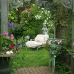Um toque vintage no jardim