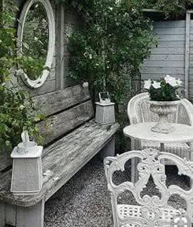 cantinho vintage no seu jardim