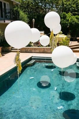 enfeitar a piscina