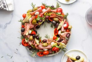 Saladas e Petiscos Decorados para o Natal